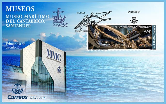 Sello dedicado al Museo Marítimo del Cantábrico
