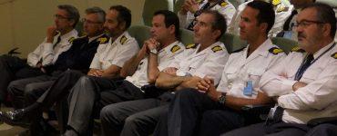 """Imagen de la jornada """"Colaboración del Mapama y la Armada en materia de protección del medio marino, el caso particular de la Red Natura 2000"""", en el cuartel general de la Armada."""