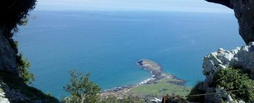 Vista del puntal de Sonabia desde el monte Candina.