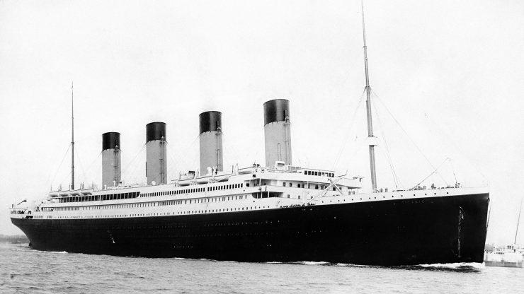 """El buque transatlántico británico """"Titanic""""."""