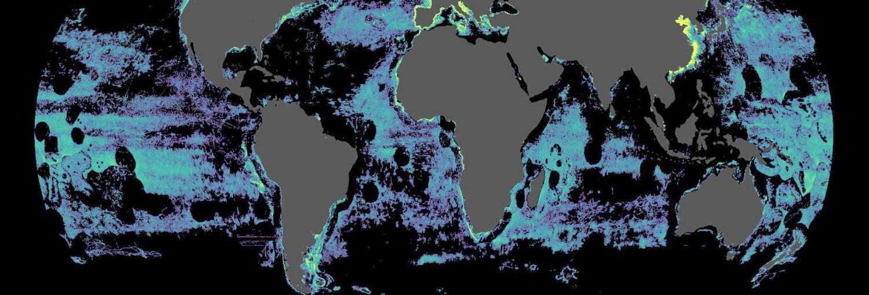 Imagen de la actividad de los buques pesqueros en alta mar en todo el mundo.