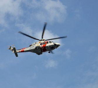 """Helicóptero """"Helimer 213"""" de Salvamento Marítimo en Bilbao."""
