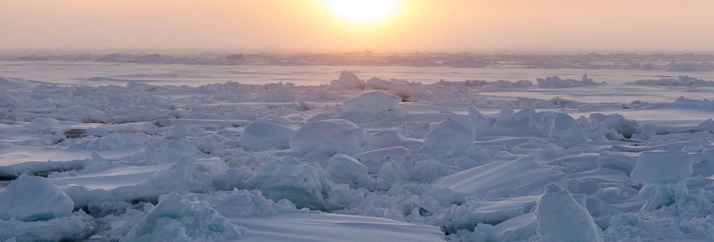 Atardecer en el Ártico.