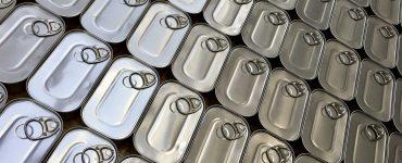Latas de conservas de sardinas.