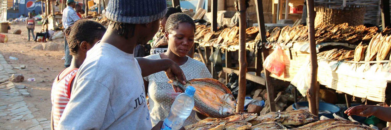 Mercado en África.