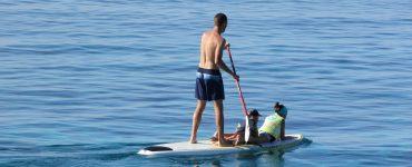 Practicante de paddle surf.