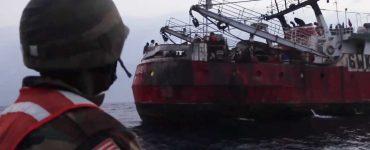 Pesquero ilegal detenido en las costas de Liberia.