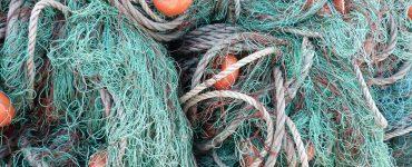 Redes de pesca en desuso.