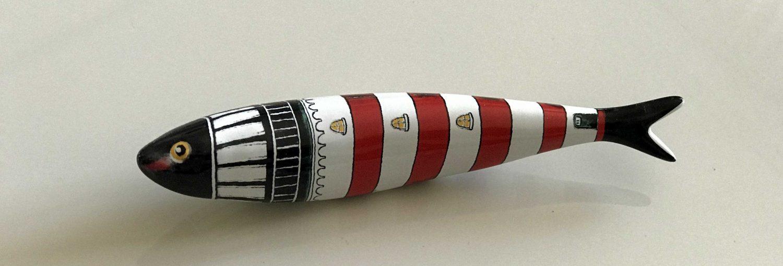 Tradicional sardina de cerámica de Lisboa.